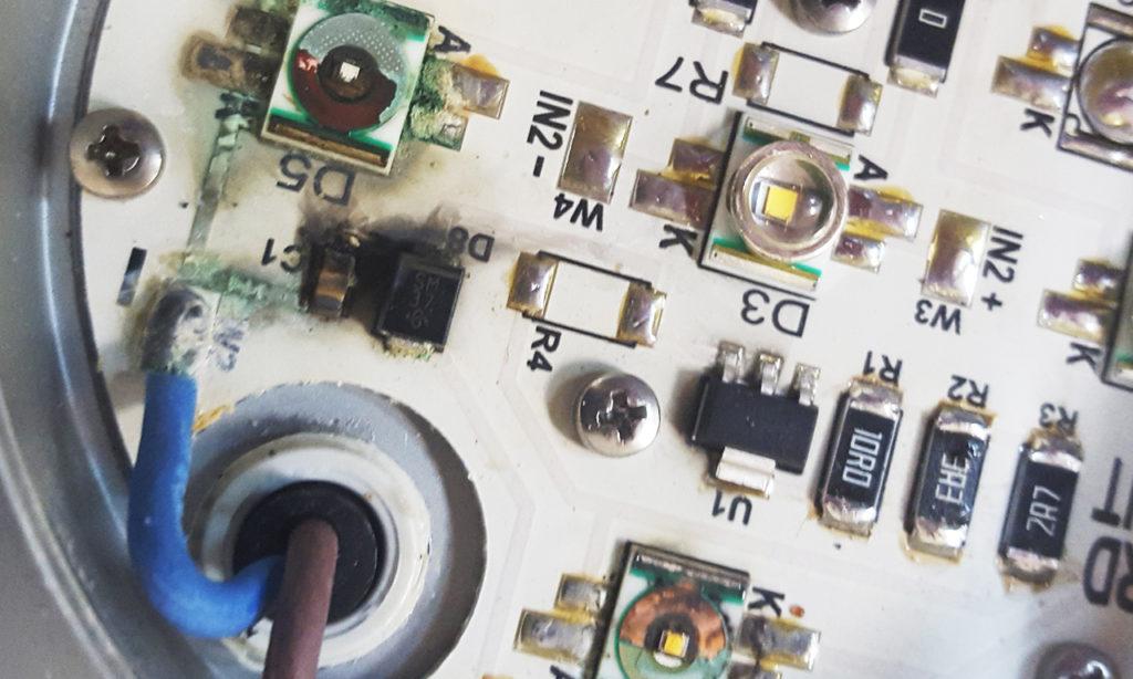 Ремонт светодиодных светильников и экспертиза