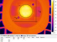 Термография светодиодного модуля №2 образца