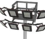 Серия светильников KEDR разработана таким образом, чтобы их можно было монтировать и на высокомачтовые опоры. Для крепления на короны и площадки и для снижения общей весовой нагрузки, предусмотрено вынесение источников питания в отдельный блок«ВИП». Расстояние между отсеком с драйверами и светильниками может достигать 50 метров
