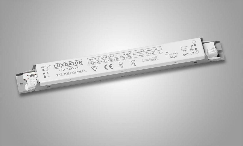 LED драйвер LUXDATOR D-CC 36W-350mA-G-03
