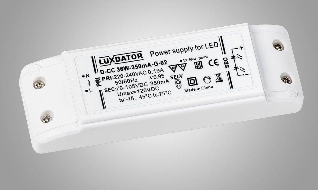 LED драйвер LUXDATOR D-CC 36W-350mA-G-02