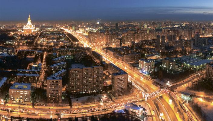 Московских улиц хаотичный свет