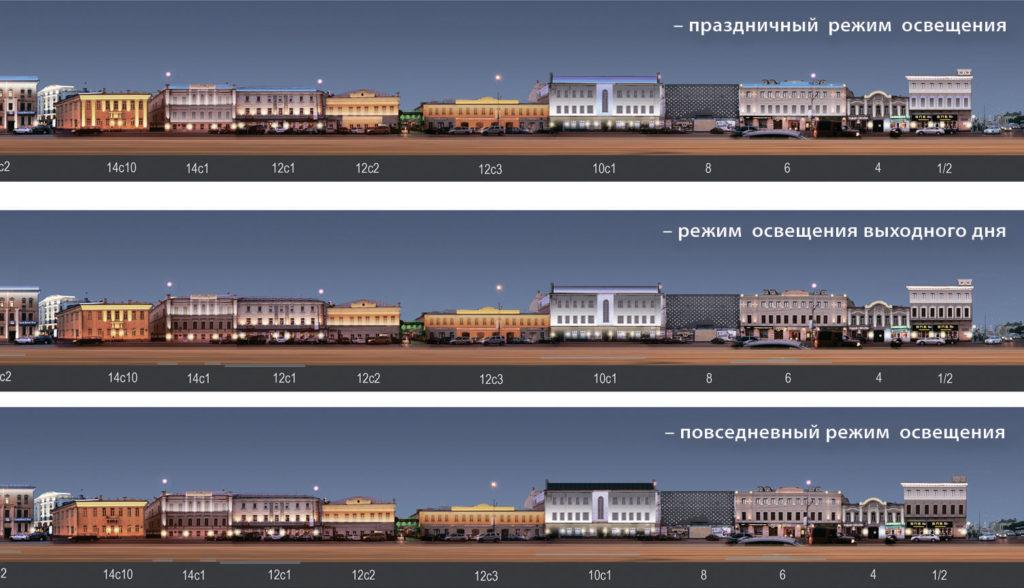 1-й ЭТАП: участок Сухаревская площадь-Протопоповский переулок развертка по четной стороне