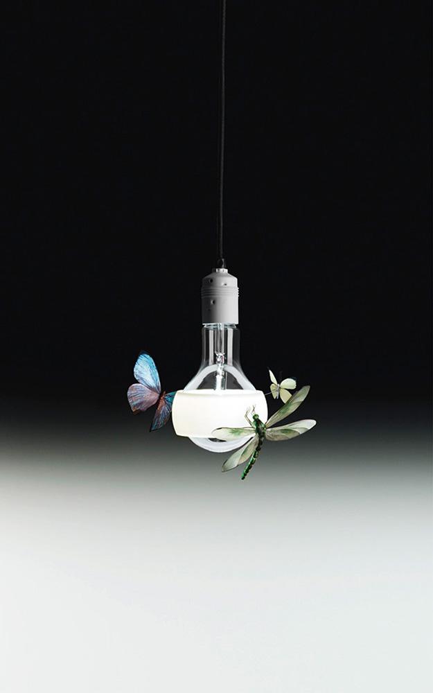 Фантазийные формы с присутствием крылатых насекомых — одни из последних в коллекции работ Инго Маурера. ©Ingo Maurer GmbH