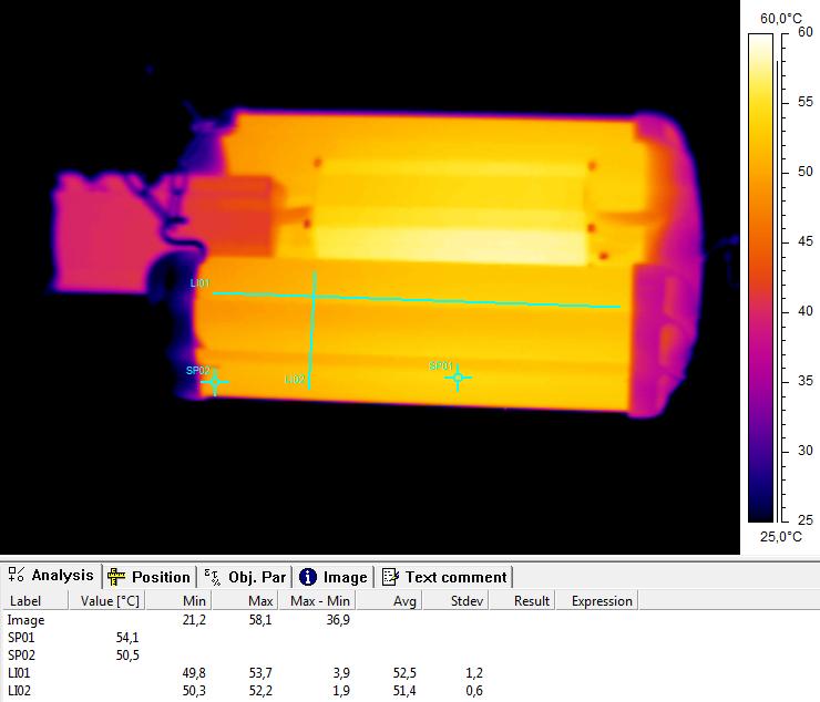Термография на LED UniLED ECO-MP 70W