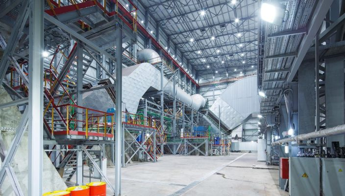 Освещение фабрики окомкования Стойленского ГОКа