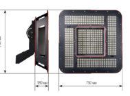 Чертежные виды LE-СБУ-32-900-1329-67Х от ЛЕД-Эффект
