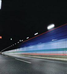 Управление освещением в автомобильном тоннеле на оборудовании компании MOONS'