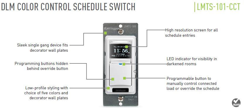 Настенный пульт для управления освещением