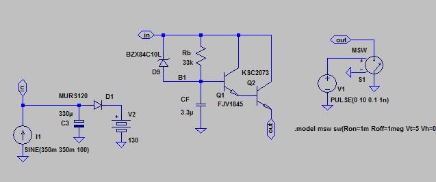Рисунок 10. Схема для моделирования короткого замыкания