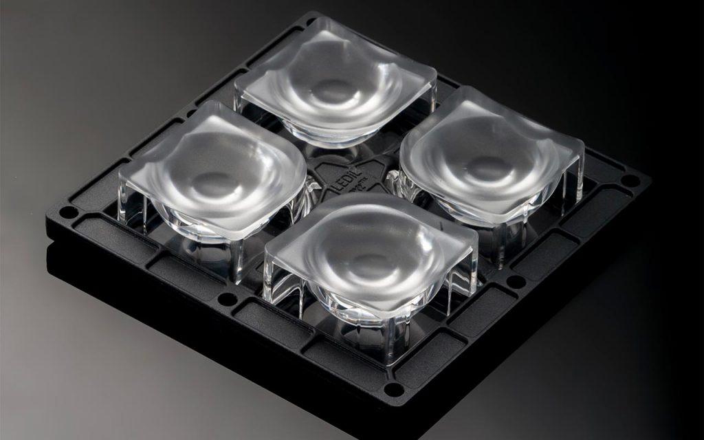 Новая узкая линза HB-2X2MXS-M из оптического силикона для промышленных светильников от Ledil