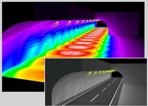 Новая линза STRADA-2х2для туннелей, спорта и ригельного освещения