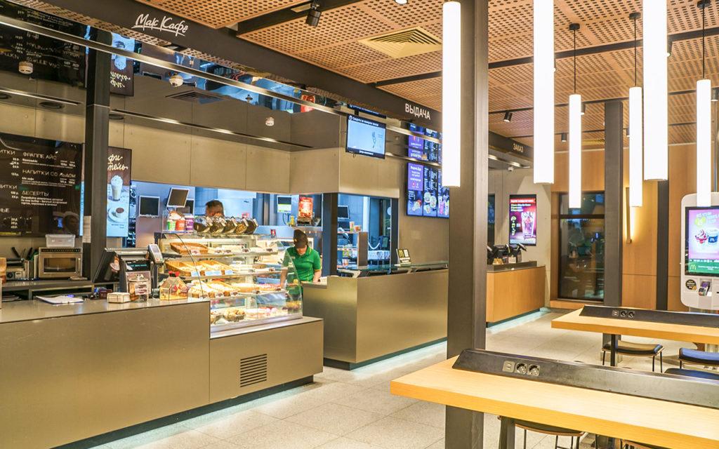 Умный свет Philips в «Макдоналдс» на Шаболовке