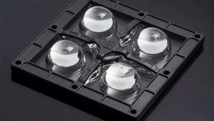 Новая линза из оптического силикона HB-2X2MXS-WW от LEDIL для промышленных прожекторов
