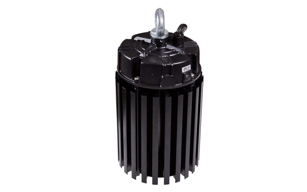 Вид с тыльной стороны комплекта компонентов для светильника HIGH-BAY 200 Вт в сборе