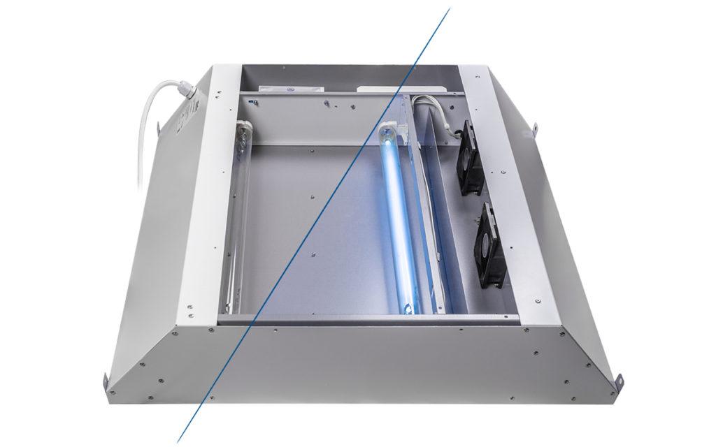 УФ-блок облучателя-рециркулятора со снятой крышкой (модуль является обслуживаемым)