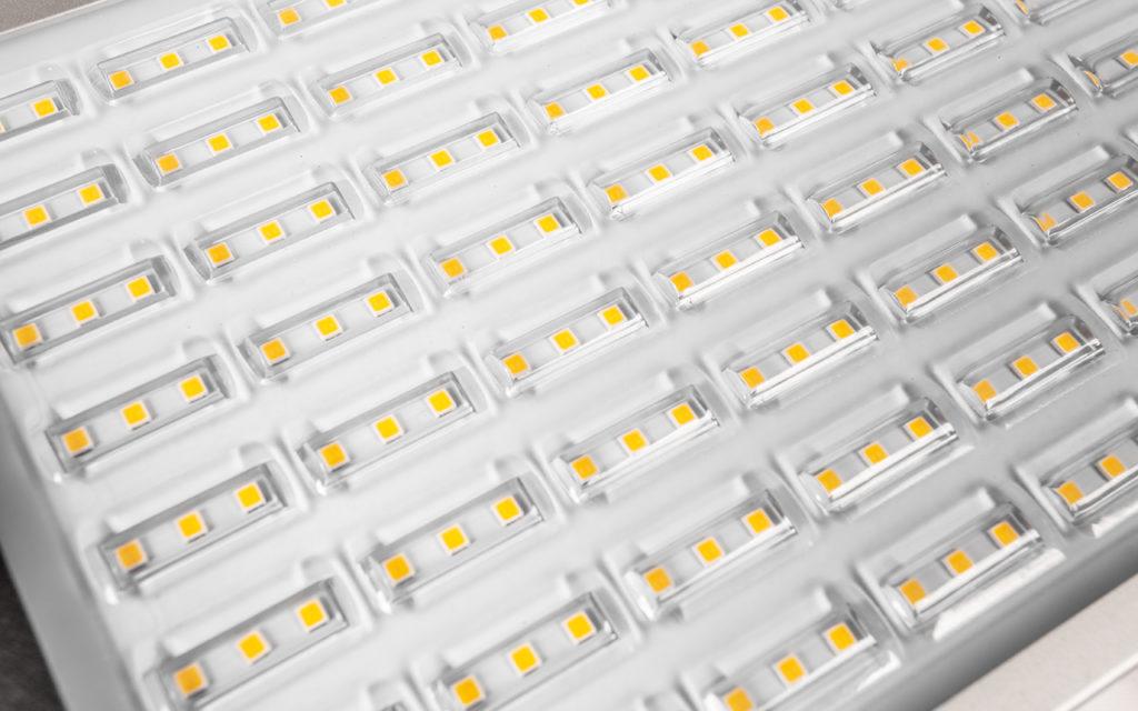Оптическая часть крупным планом светильника Universal Plus 01А-38D-4U+