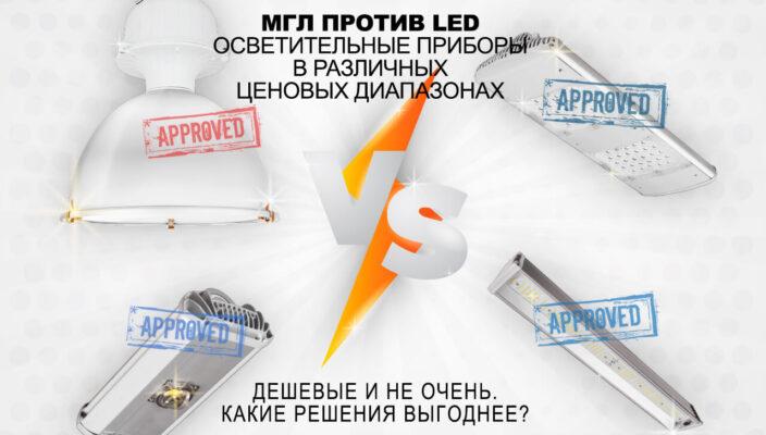 МГЛ против LED. Промышленные светильники в различных ценовых диапазонах