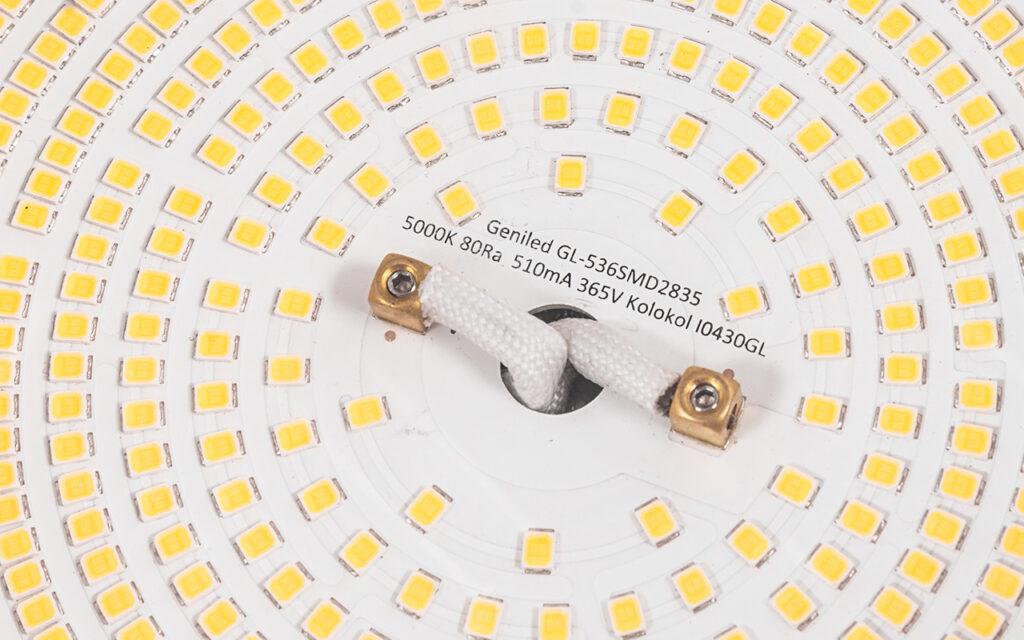Оптический блок светильника крупным планом