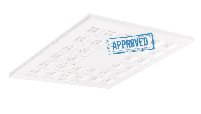 Испытания светодиодного офисного светильника Слим LE-CBO-45-030-5707-23Д от ЛЕД-Эффект, март 2021