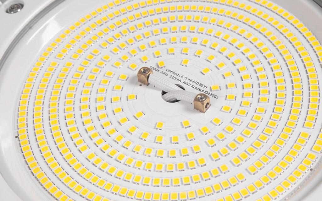 Оптический блок светильника Geniled Kolokol 150Вт 5000K 70Ra крупным планом
